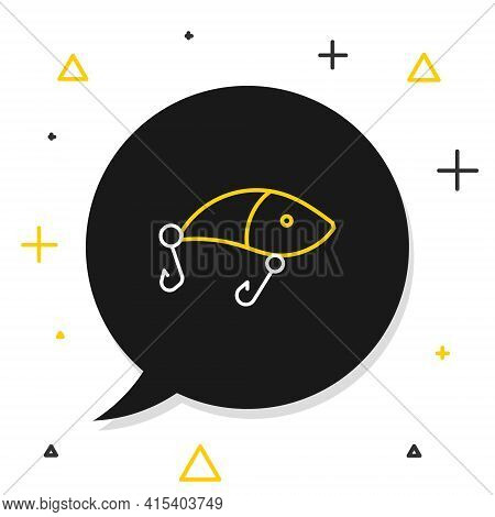Line Fishing Lure Icon Isolated On White Background. Fishing Tackle. Colorful Outline Concept. Vecto