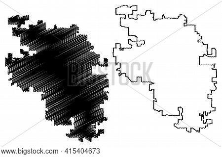 Meridian City, Idaho (united States Cities, United States Of America, Usa City) Map Vector Illustrat