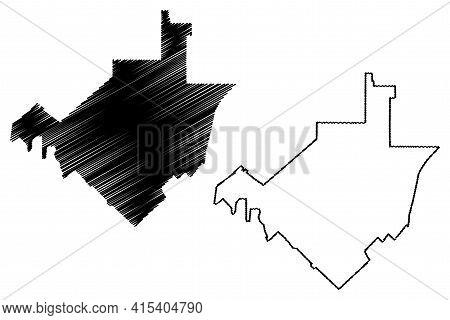 Murrieta City, California (united States Cities, United States Of America, Usa City) Map Vector Illu