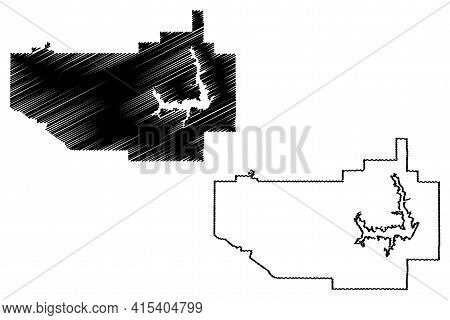 Norman City, Oklahoma (united States Cities, United States Of America, Usa City) Map Vector Illustra