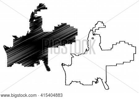 Provo City, Utah (united States Cities, United States Of America, Usa City) Map Vector Illustration,