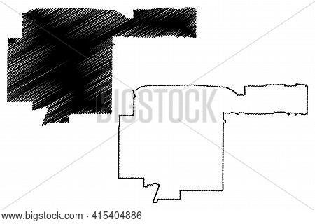 Richardson City, Texas (united States Cities, United States Of America, Usa City) Map Vector Illustr