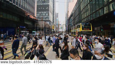 Central, Hong Kong 27 January 2021: City in Hong Kong