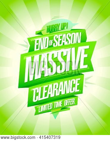 End of season massive clearance sale poster, rasterized version