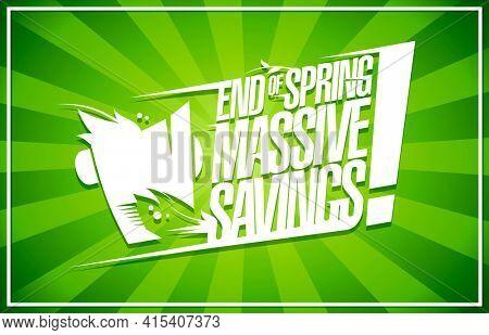 End of season massive savings poster, rasterized version