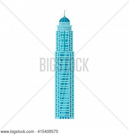 High Buildings Vector Icon.cartoon Vector Icon Isolated On White Background High Buildings.