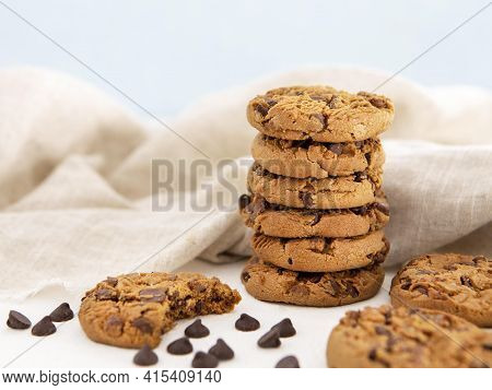Pile Cookies Bitten Cookie . High Quality And Resolution Beautiful Photo Concept