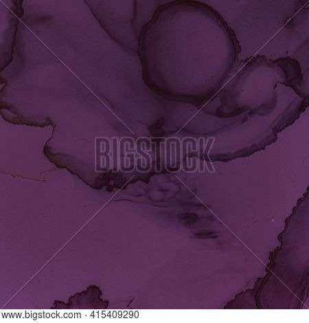 Alcohol Wine Wallpaper. Watercolour Maroon Texture. Abstract Painted Stains. Purple Ink Banner. Alco