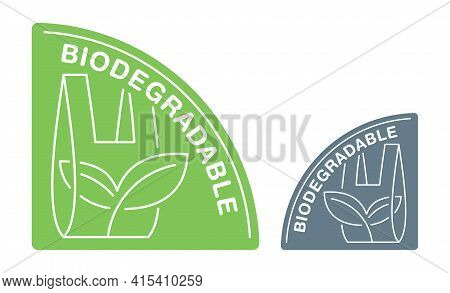 Biodegradable Sticker In Corner Triangular Form - Packet Turns To Plant Branch - Eco Friendly Compos