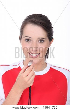 portrait of a female referee