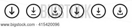 Download Vector Icon Set. Upload Symbol Collection. Downloading Symbols With Arrow.
