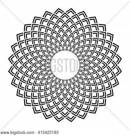 Abstract Decorative Geometric Circle Pattern. Vector Art.