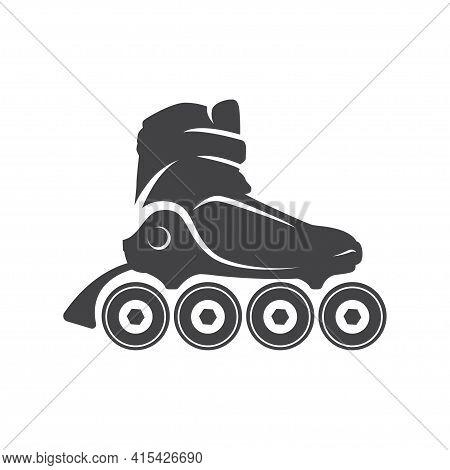 Roller Skate Logo, Emblem, Badge. Roller Logo For Club, Event, And Other Design Elements.