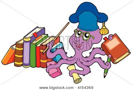 Octopus Teacher With Books