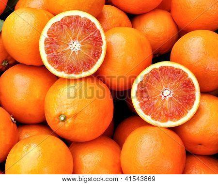 Red Oranges Of Sicily, Italy