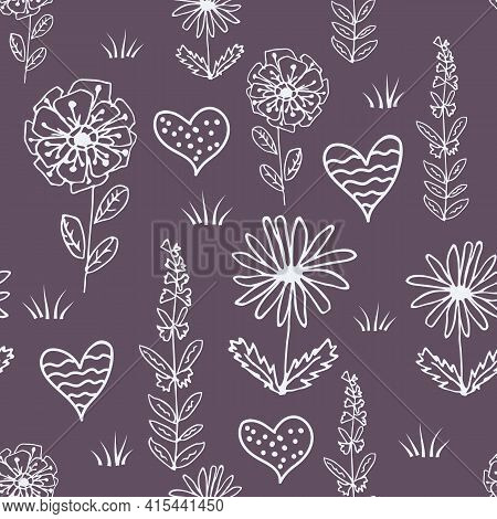 Seamless Children S Pattern With Fabulous Flowers