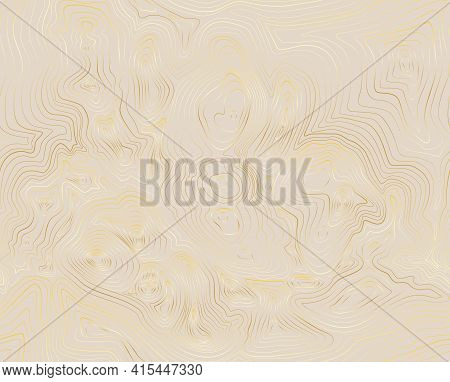 Topographic Map Gold Abstract Background With Contour Altitude Lines.
