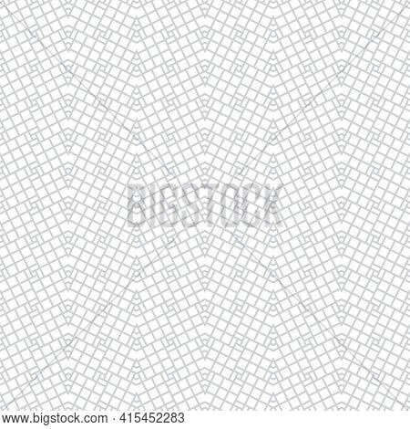 Seamless Pattern. Infinitely Repeating Stylish Elegant Texture Consisting Of Inclined Rhombuses And