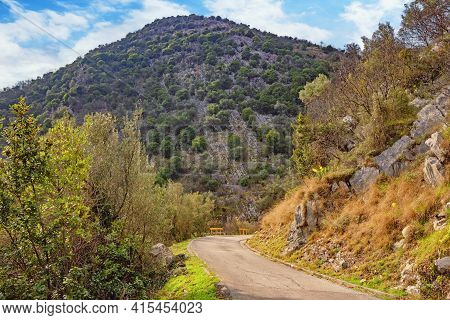 Mountains Landscape With  Country Road. Dinaric Alps, Montenegro, Tivat