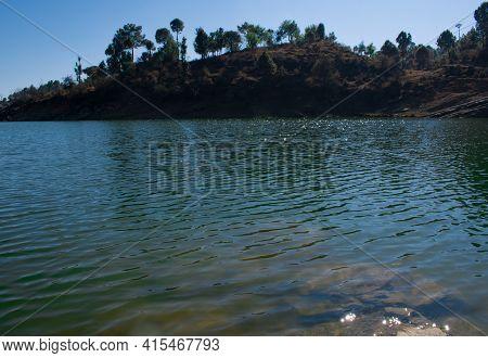 Beautiful Fresh Water Lake In Himachal Pradesh, India