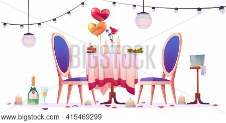 Restaurant Table After Romantic Dating Isolated On White Background. Unfinished Champagne In Glasses