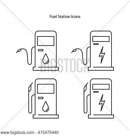 Fuel Icon Isolated On White Background. Fuel Icon Thin Line Outline Linear Fuel Symbol For Logo, Web