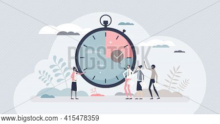 Timebox Time Interval For Precise Project Management Tiny Person Concept