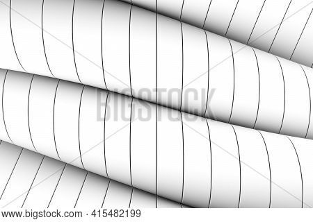Black And White Wheels Abstract Background 3d Render Illustration