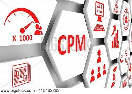 Cpm Concept Cell Background 3d Render Illustration