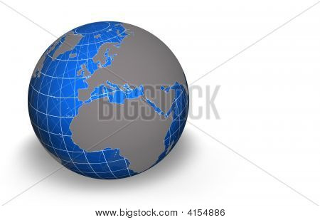 Globe, Europe Africa