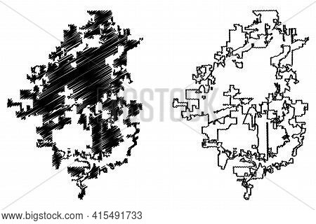 Springfield City, Illinois (united States Cities, United States Of America, Usa City) Map Vector Ill