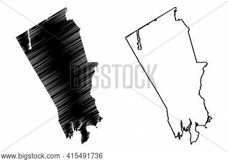 Stamford City, Connecticut (united States Cities, United States Of America, Usa City) Map Vector Ill