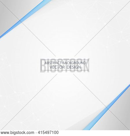 Abstract White Background With Silver Accents - Vector Illustration