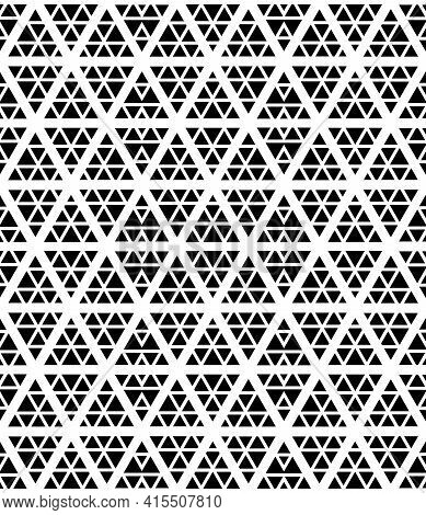 Abstract Seamless Geometric Hexagons Diamonds And Triangles Pattern And Texture. Vector Art.