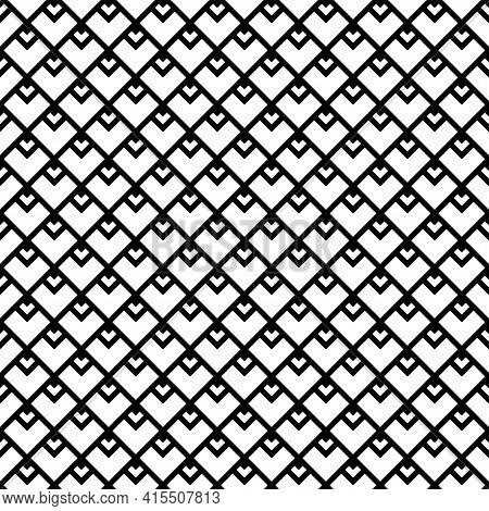 Abstract Seamless Geometric Checked Pattern And Grid Texture. Vector Art.