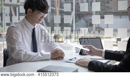 Supervisor gives the document envelope to the employee, supervisor submits the resignation documents