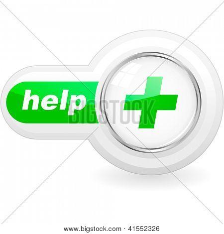 HELP. Vector icon.