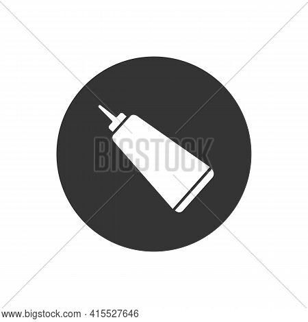 Glue White Icon. Glue Design Concept From Collection. Simple Element Vector Illustration On White Ba