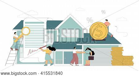 Concept Mortgage Loan. Home Loan. Investing Money In Real Estate. Purchase Of Real Estate