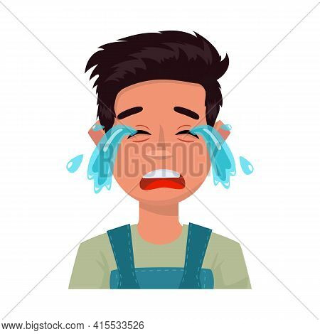 Vector Illustration Of Guy And Cry Logo. Set Of Guy And Tears Stock Symbol For Web.
