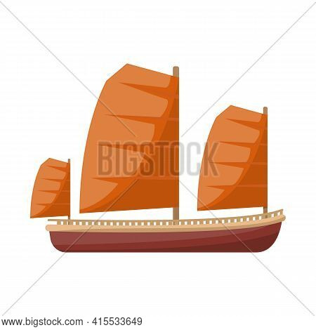 Vector Design Of Ship And Vietnamese Icon. Collection Of Ship And Boat Stock Symbol For Web.