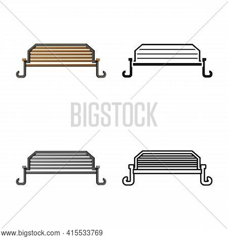 Isolated Object Of Bench And Furniture Icon. Web Element Of Bench And Seat Stock Vector Illustration