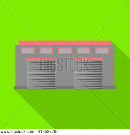 Vector Illustration Of Warehouse And Airport Icon. Web Element Of Warehouse And Hangar Stock Vector