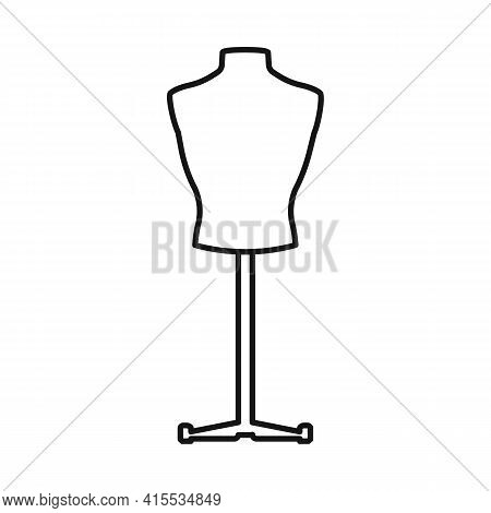 Vector Illustration Of Dummy And Bust Symbol. Graphic Of Dummy And Female Vector Icon For Stock.