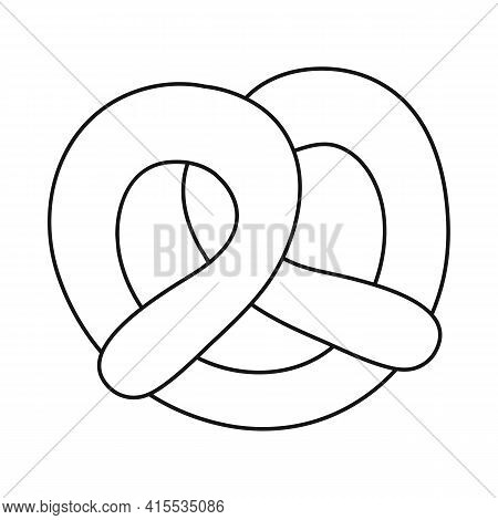 Isolated Object Of Pretzel And Soft Sign. Set Of Pretzel And German Vector Icon For Stock.