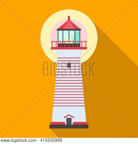 Lighthouse Vector Icon.flat Vector Icon Isolated On White Background Lighthouse.