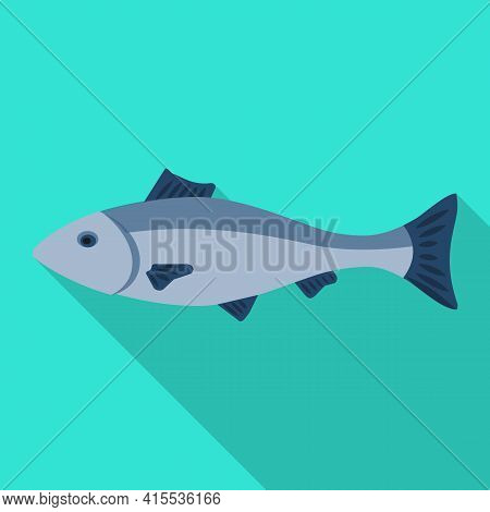 Sea Fish Vector Icon.flat Vector Icon Isolated On White Background Sea Fish.