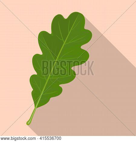 Oak Leaf Vector Icon.flat Vector Icoon Isolated On White Background Oak Leaf.