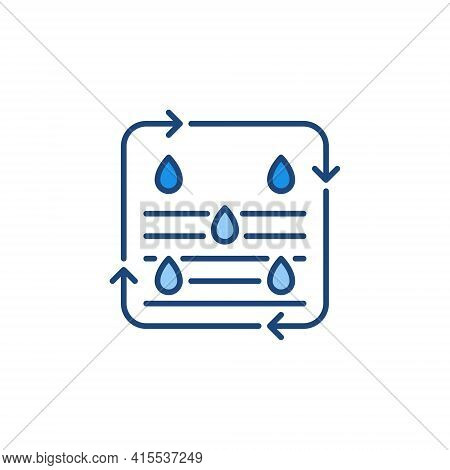 Water Purification Process Vector Concept Colored Icon