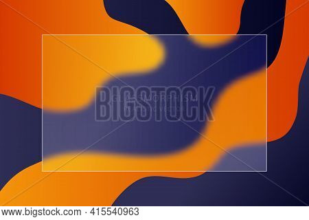 Glassmorphism Effect With Transparent Glass Plate On  Abstract Color Background. Frosted Acrylic Or